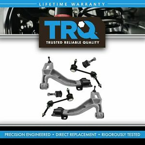 6 Piece Suspension Kit Lower Control Arms Upper Ball Joints Sway Bar End Links