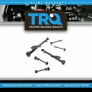 Rear Upper Lower Trailing Control Arm Sway Bar Link Suspension Kit Set 6pc