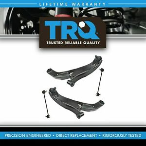 Trq Front Lower Control Arm Ball Joint Sway Bar End Link Suspension Kit Set 4pc