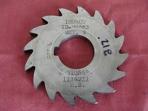 Thurco 3 X 218 X 1 Slotting Saw 16 Teeth