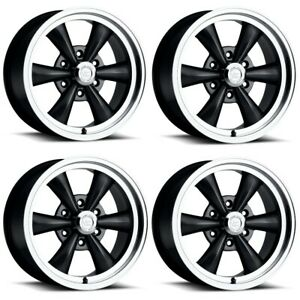 Set 4 17 Vision 141 Legend 5 Black Machined Rims 17x8 6x5 5 0mm Chevy Gmc 6 Lug