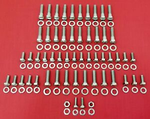 1939 1948 Ford 239 V8 Flathead Stainless Steel Engine Hex Bolts Kit Set
