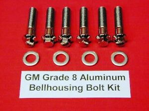 Chevy Gm Sbc Lt1 Bbc Aluminum Bellhousing Arp Grade 8 Stainless Bolt Kit Set
