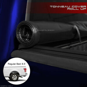 Lock Roll Soft Tonneau Cover 2015 2018 F150 Regular super supercrew 6 5 Ft Bed
