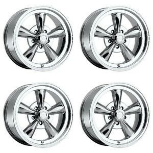 Set 4 15 Vision 141 Legend 5 Chrome Rims 15x7 5x4 75 7mm Chevy Chevelle 5 Lug