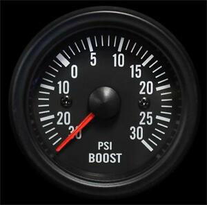 Electrical Boost Gauge 52mm Clear Lens White Led
