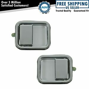 Door Handles Outside Exterior Chrome Pair Set For Jeep Wrangler Cj7 Scrambler