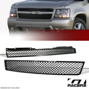 For 2007 2014 Tahoe Suburban Avalanche Black Mesh Front Hood Bumper Grill Grille