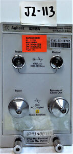 Agilent Hp 83495a Clock Recovery Module W Opt 100 And 200
