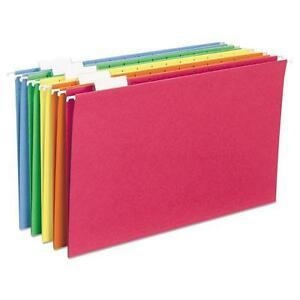 Smead 64159 Hanging File Folders 1 5 Tab 11 Point Stock Legal Assorted Color
