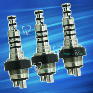 3x Dental Lab Standard Handpiece Quick Coupling Coupler Swivel Compatible Kavo