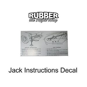 1955 1956 Ford Thunderbird Jack Instructions Decal