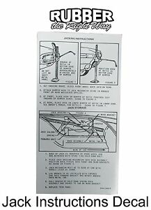 1964 Ford Thunderbird Jack Instructions Decal