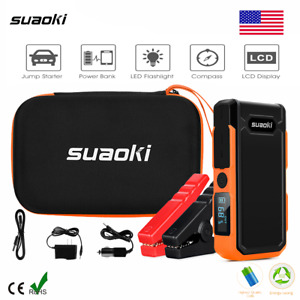 Suaoki 800a 12v Auto Car Jump Starter 20000mah Battery Charger Booster Led Sos