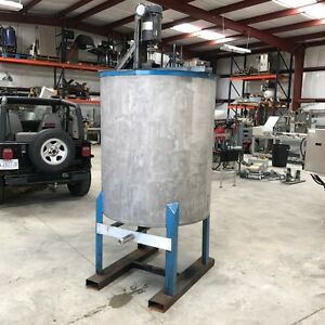 300 Gallon Stainless Steel Tank Mixing Tank Open Top With Top Mounted Mixer