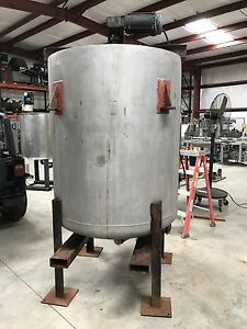 400 Gallon Stainless Steel Tank Mixing Tank Open Top With Top Mounted Mixer Ex