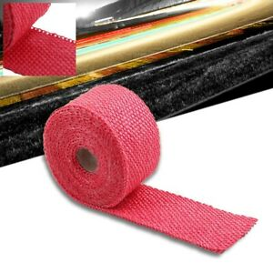 Red 2 X 1 16x 15ft 180 T1 Exhaust Header Turbo Manifold Downpipe Heat Wrap