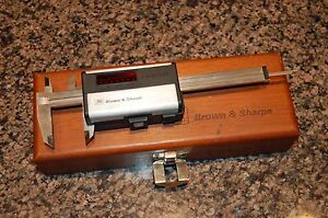Antique Brown Sharpe 599 572 Digit cal 6 Caliper In Wood Box With Charger