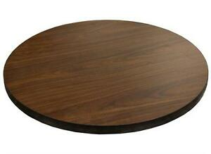New 48 Round Table Top Walnut Laminate Restaurant Furniture Tables