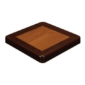 New Restaurant Resin Table Top Furniture Mahogany Cherry Round 42 42 Res M c