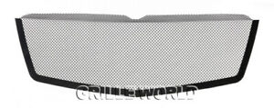 Fits 2007 2014 Cadillac Escalade Stainless Steel Black Mesh Grille