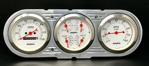 1963 1964 1965 Chevy Nova 3 Gauge Cluster White