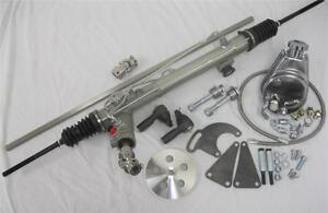 New Mustang Ii 2 Power Steering Rack W Shaft Kit Pump Bracket Hoses Pulley