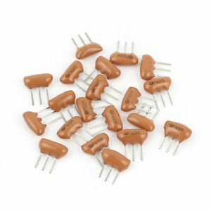 20 Pieces Radial Leaded 3pole Ceramic Filter Crystal Resonators 4 5mhz Frequency