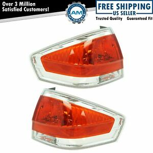 Tail Light Lamp Assembly W Chrome Trim Lh Rh Set Of 2 Pair For 08 11 Ford Focus