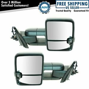 Tow Mirror Power Folding Heated Signal Marker Spotlight Oat Textured Pair For Gm