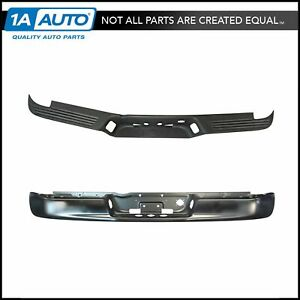 Rear Bumper Face Bar Black Ptm W Upper Pad For Dodge Ram 1500 2500 3500 Pickup