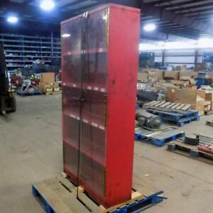 Monarch Metal Products Inc Red Storage Cabinet 38 5 X 12 5 X 72