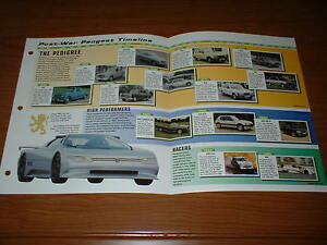 1948 99 History Of The Peugeot Brochure 48 99 203 605