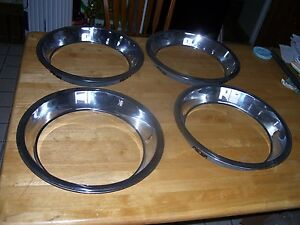 14 Inch L Trim Beauty Rings Chevy Ford Gmc Gm Chevelle Gto 14 14 Ss