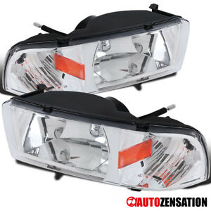 For 1994 2001 Dodge Ram 1500 Clear Lens Headlights W Turn Signal Lamps Pair