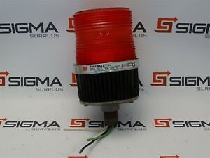 Federal Signal Fb2pst Fire Ball Ii Red Beacon Light 120v 25a 50 60hz Ser A5