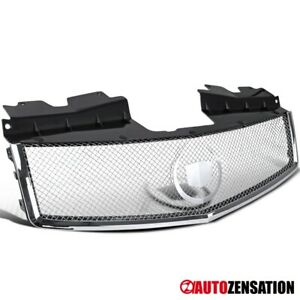 03 07 Cadillac Cts Chrome Hood Grille Stainless Mesh wreath