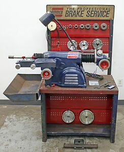 Very Nice Ammco 4000 Heavy Duty Disc And Drum Brake Lathe W Double Chuck Kit