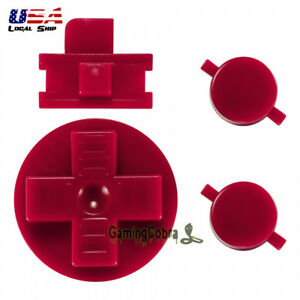 A B Buttons Dpad Control Complete Kits for Original Gameboy Classic Fat Red $7.99