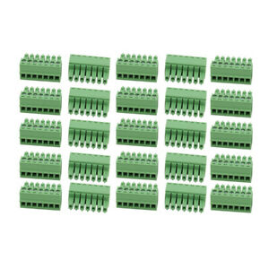 25pcs Ac 300v 8a 3 5mm Pitch 7p Terminal Block Wire Connector For Pcb Mounting