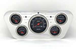 1953 1954 1955 Ford Truck 5 Gauge Billet Dash Cluster Set Insert Black