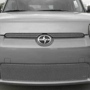 5 Pc Mx Series Silver Powder Coated Fine Mesh Main And Bumper Grille Kit