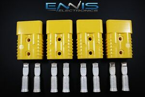 4pcs Anderson Power Connectors Sb175 Yellow 1 Gauge Awg Battery Quick Disconnect