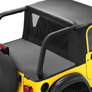 For Jeep Wrangler 1992 1995 Bestop 53818 15 Halftop Black Denim Soft Top