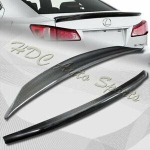 For 2006 2013 Lexus Is250 Is350 Duck Real Carbon Fiber Rear Trunk Spoiler Wing
