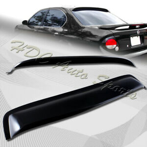 For 2000 2003 Nissan Maxima Black Acrylic Rear Window Roof Visor Spoiler Wing
