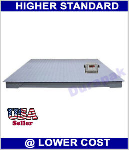 10000 Lb 5x5 Floor Scale Digital Indicator Industrial Warehouse Pallet Weighing
