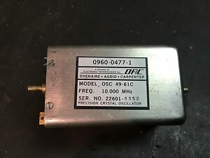Osc Ovenaire Audio Carpenter Osc 49 61c 10mhz Precision Crystal Oscillator