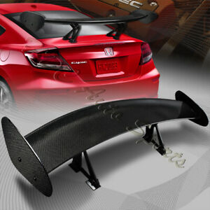 Type 4 3d Universal 51 Real Carbon Fiber Adjustable Rear Trunk Gt Spoiler Wing