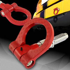 For Bmw Red Aluminum Front Or Rear Carbon Fiber Look Racing Tow Hook Anodized